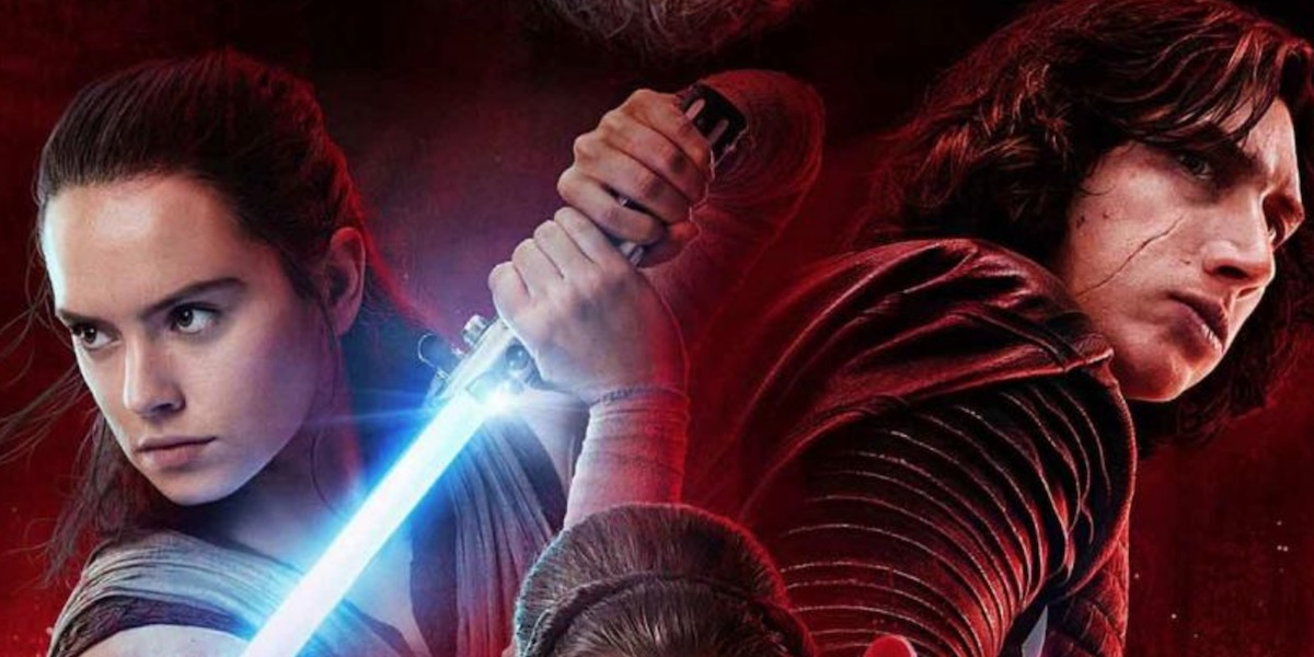 Rey and Kylo The Last Jedi's poster