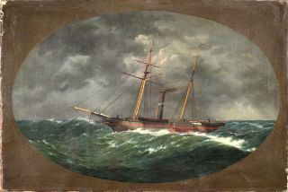 Robert J. Walker steamer ship painting
