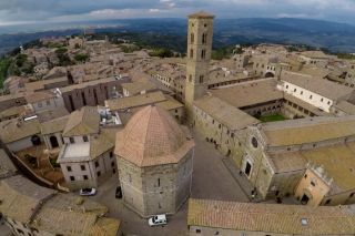 Aerial drones, 3D laser scanners and Autodesk software were used to record archaeological sites in the mountaintop city of Volterra in Italy's Tuscany region.