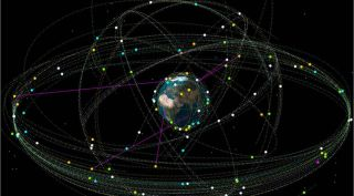 Earth and satellites