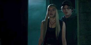 New Mutants Anya Taylor-Joy and Charlie Heaton see something worrying them