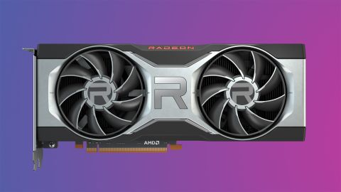 AMD Radeon RX 6700 XT on colourful gradient background