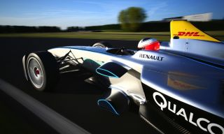 Formula E Electric Car Racing