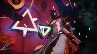 A warlock holding a mote in the Prophecy dungeon.