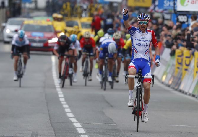 Rudy Molard (Groupama-FDJ) takes a big win in Vence