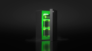 Screengrab of Xbox Mini Fridge opening from release trailer.