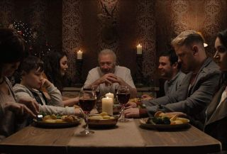 A Christmas Eve dinner in 'Hosts.'