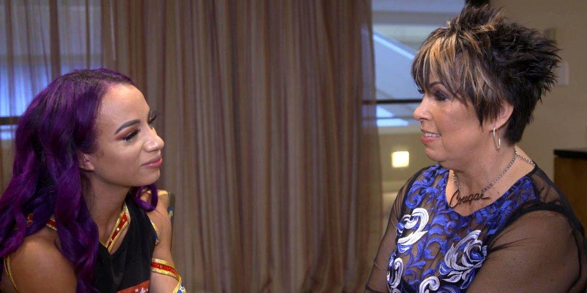 Sasha Banks and Vickie Guerrero in WWE