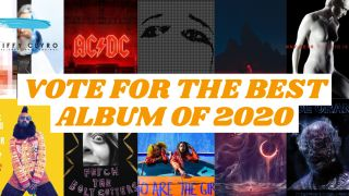 A montage of albums of the year cover art
