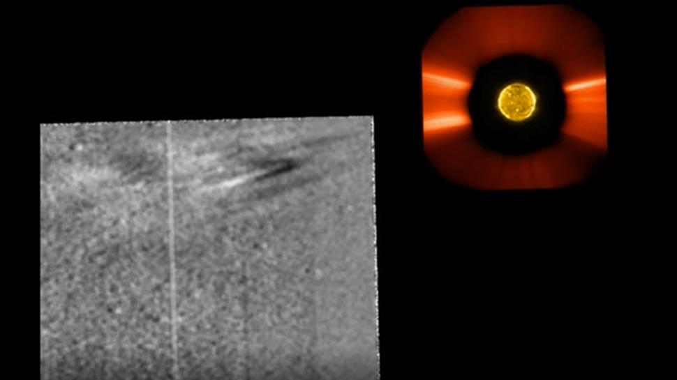 Solar Orbiter captures its 1st video of eruption on the sun