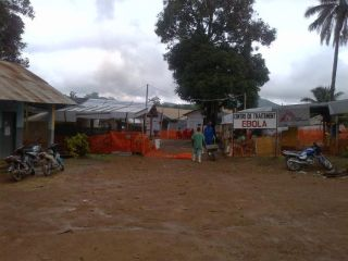 An Ebola treatment center in Guina.