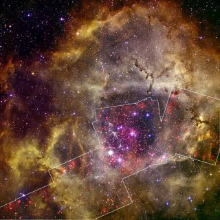 Rosette Nebula Sparkles In New Photo