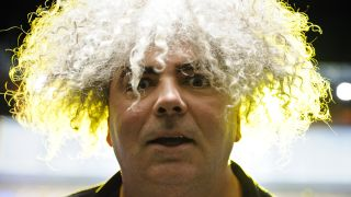 a shot of Buzz Osborne on stage