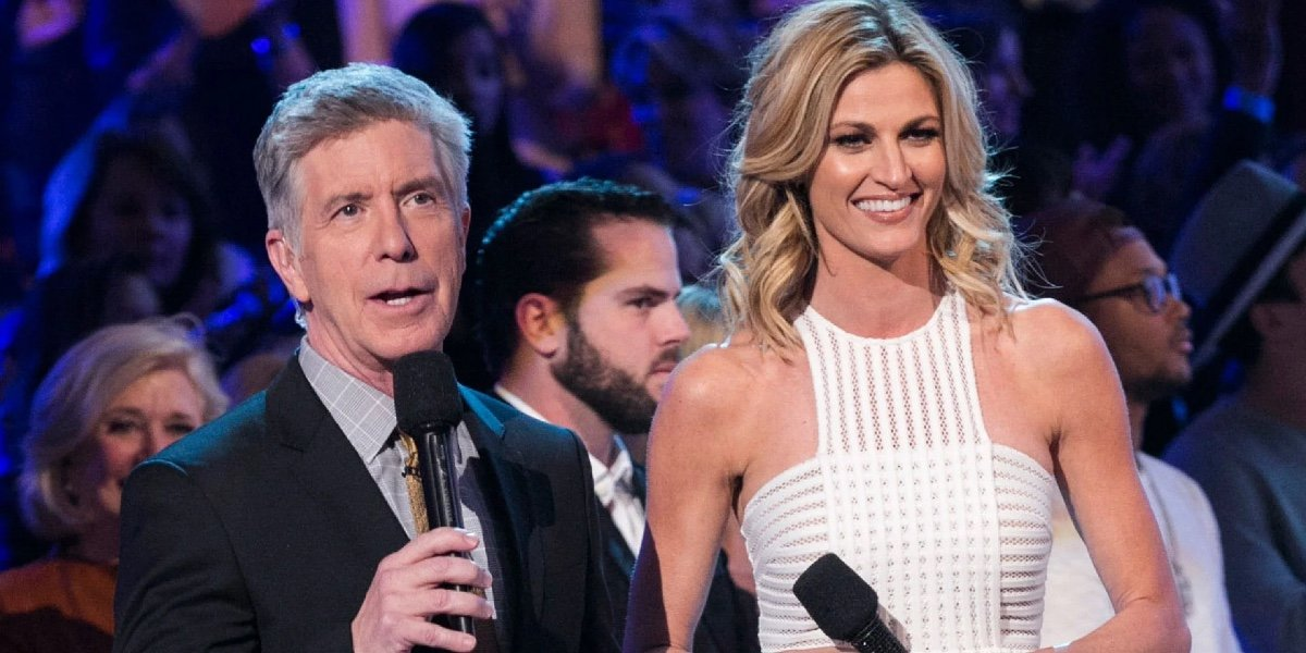 Tom Bergeron and Erin Andrews on Dancing With the Stars.
