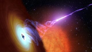 Black hole with accretion disk and jets