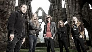 A press shot of Opeth in 2016