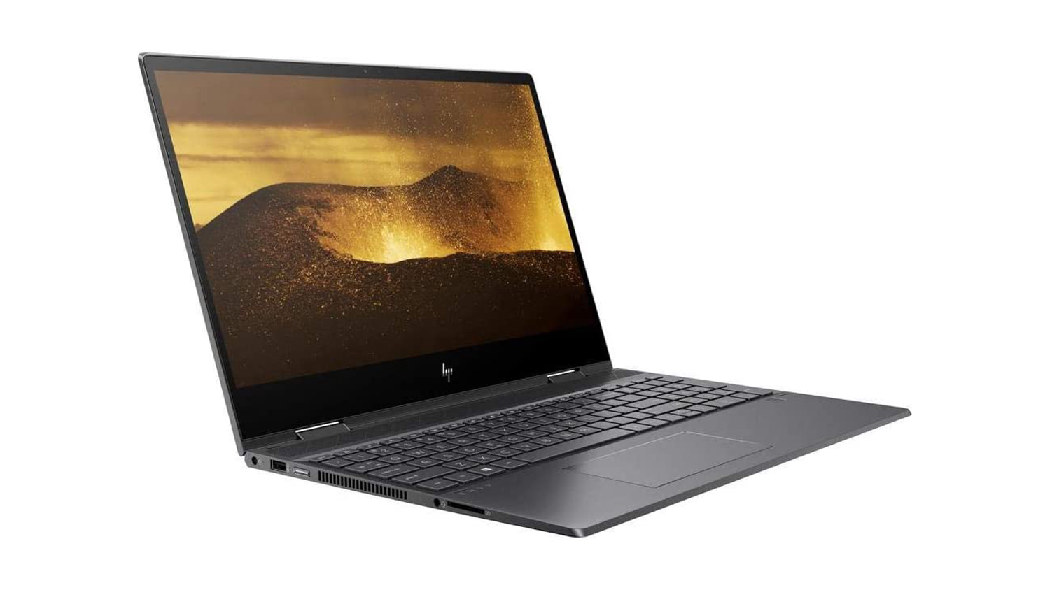 HP Envy x360 15 (2021) at an angle against a white background