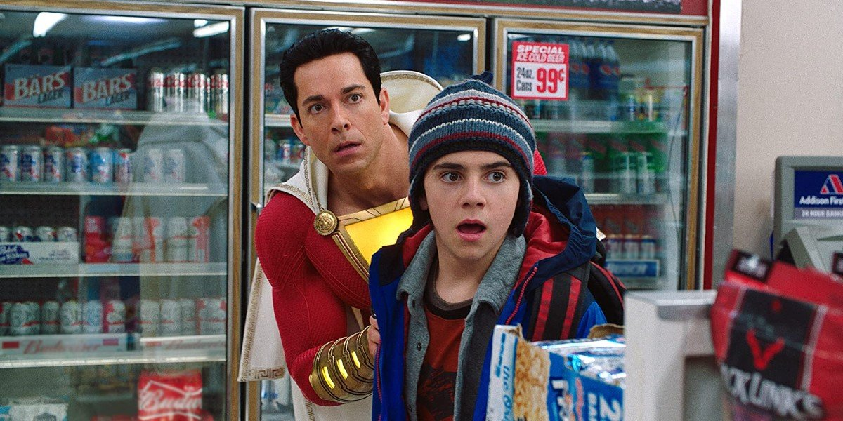 Zachary Levi and Zack Dylan Grazer in Shazam!