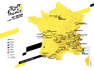 The new map for the 2020 Tour de France