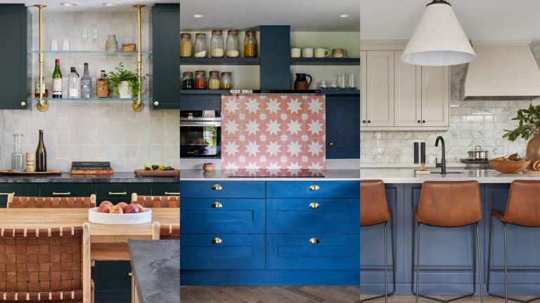 A composite of backsplash ideas for kitchens
