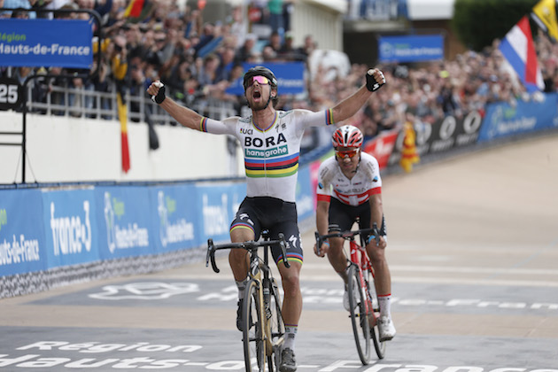 Peter Sagan takes spectacular Paris-Roubaix victory after huge 54km attack