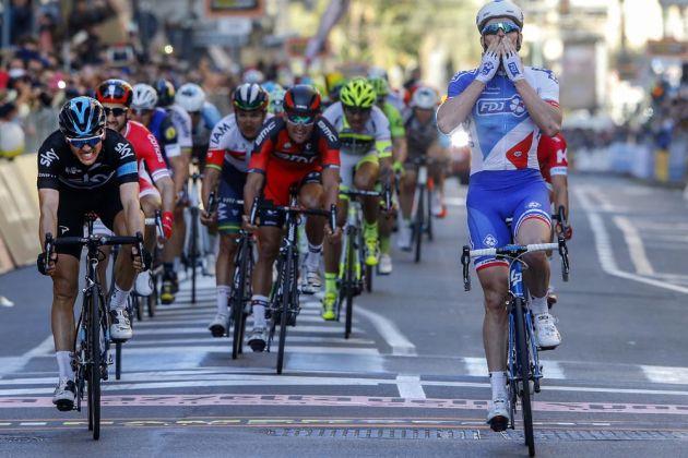 Arnaud Demare wins, Ben Swift Second in the 2016 Milan-San Remo