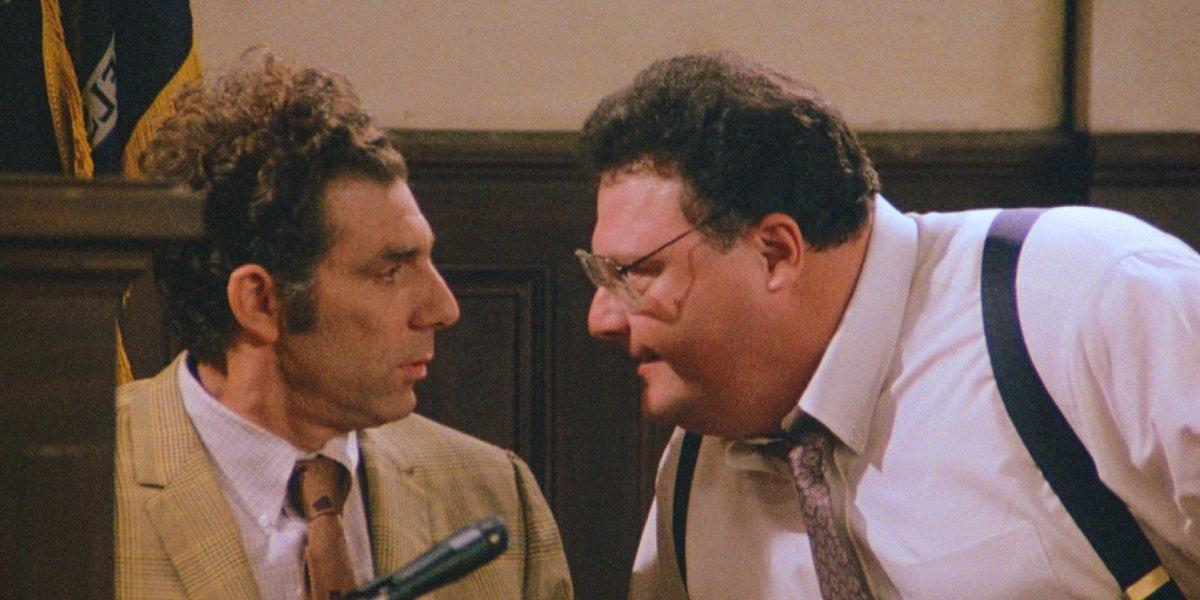 Michael Richards and Wayne Knight on Seinfeld