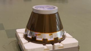 Japan will test the HTV Small Re-entry Capsule, shown here, to test payload return technology during its Kounotori7 cargo delivery mission to the International Space Station.