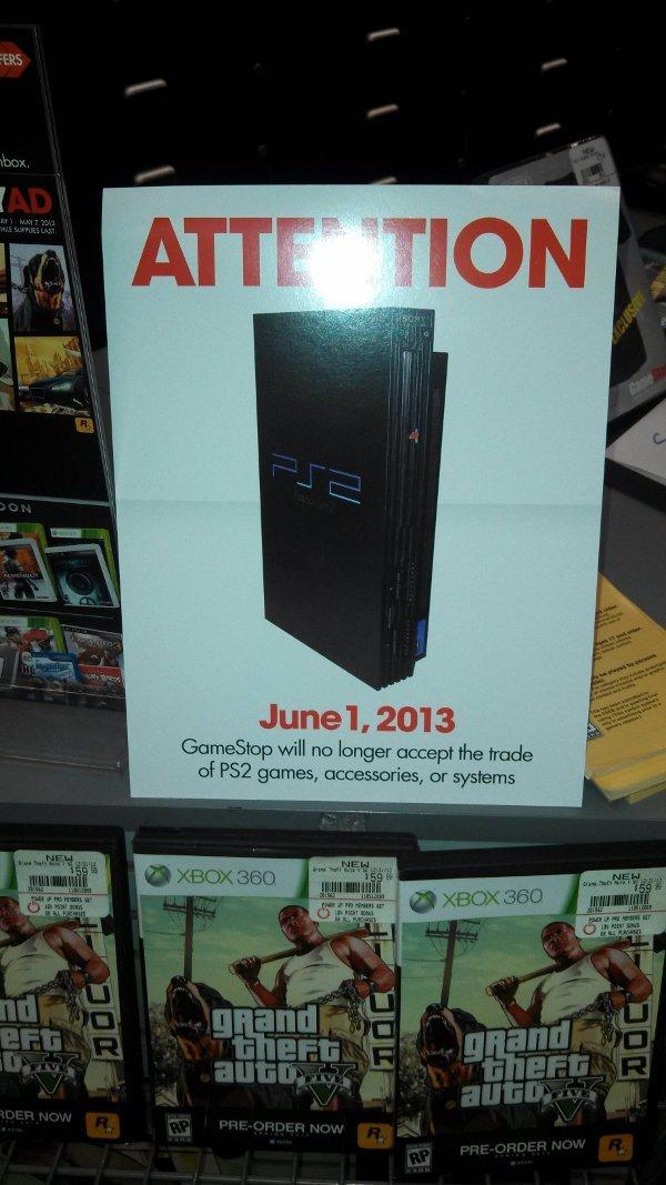 GameStop PS2 Trade-ins
