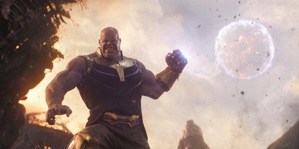 Thanos destroying Titan's Moon