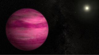 pink alien planet