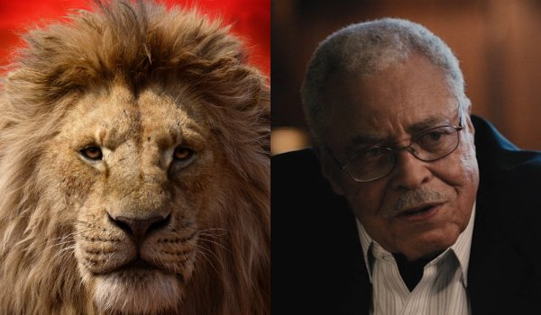 The Lion King Mufasa and James Earl Jones side by side