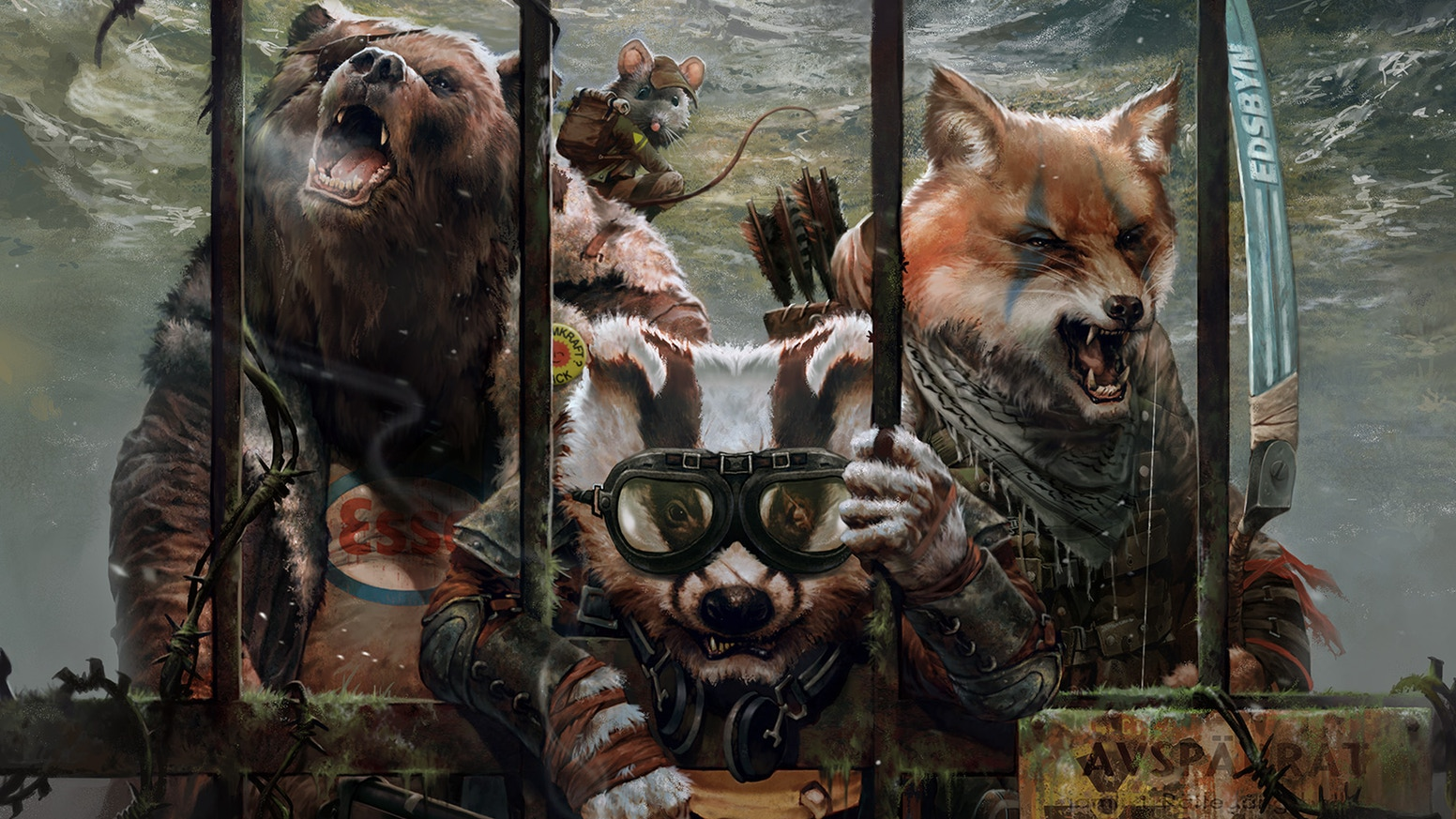 The tabletop lore behind Mutant Year Zero's gun-toting animals and