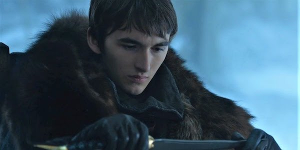 Bran with the dagger in Game of Thrones Season 7