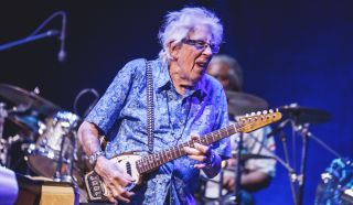 John Mayall performs onstage at Teatro Nuevo Apolo on October 08, 2019 in Madrid, Spain