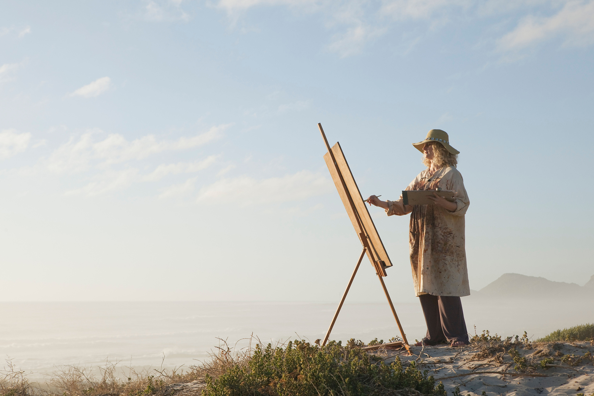 Painting by the sea