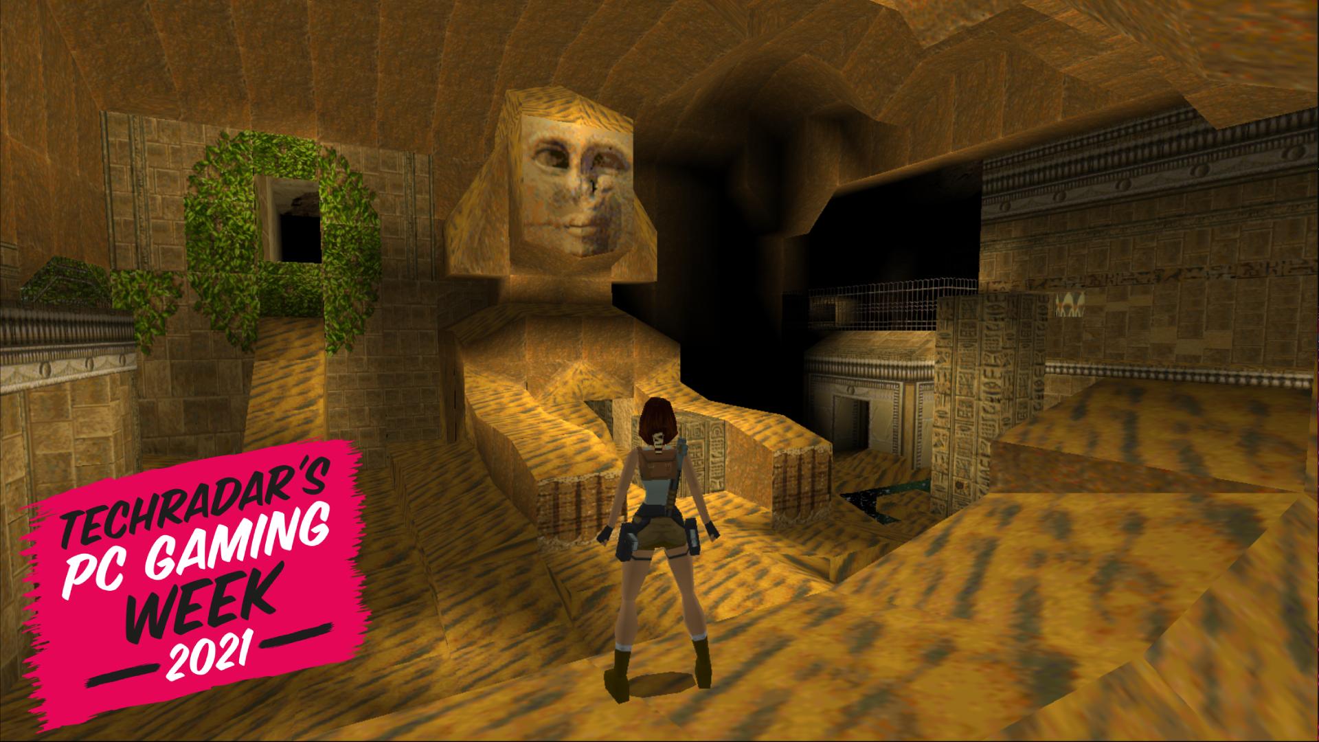 Lara Croft in Egypt, in the original Tomb Raider game