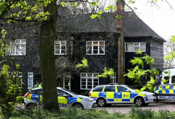 Police at Peaches Geldof's house after she died