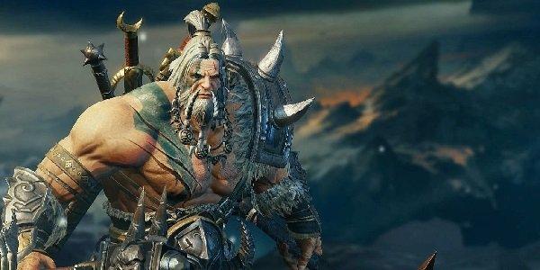 A barbarian in Diablo: Immortal.