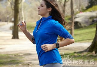 Runner with GPS watch