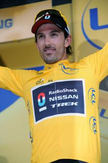 Prologue winner Fabian Cancellara remains in the Tour de France lead after stage 1.