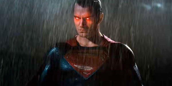 Superman's red eyes from Batman v Superman