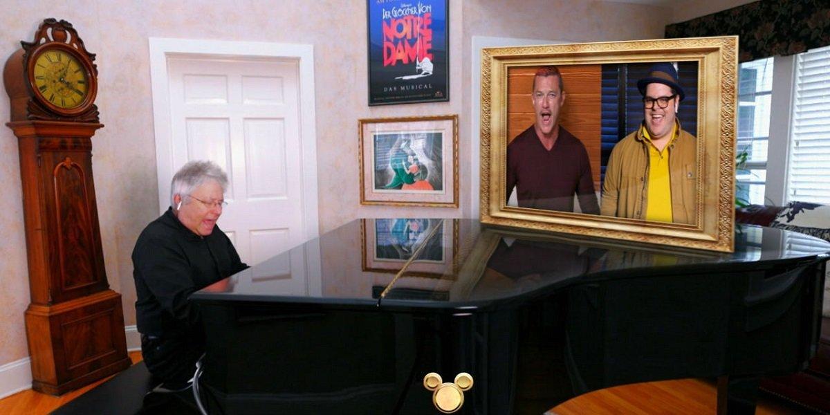 luke evans reveals how the disney sing-along was filmed