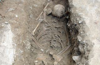 Witch girl skeleton, archaeology