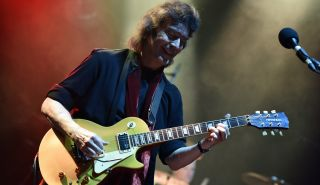 Steve Hackett performs at the Eventim Apollo on November 29, 2019 in London