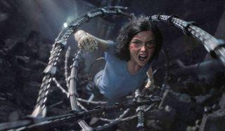 Alita: Battle Angel Alita springs into action through steel tentacles