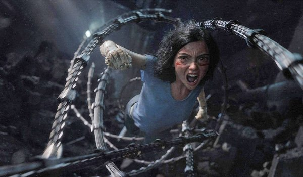 Alita: Battle Angel Alita springs into action through steel tentacles