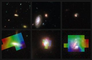 Telescopes Team Up for 3-D Galaxy Views