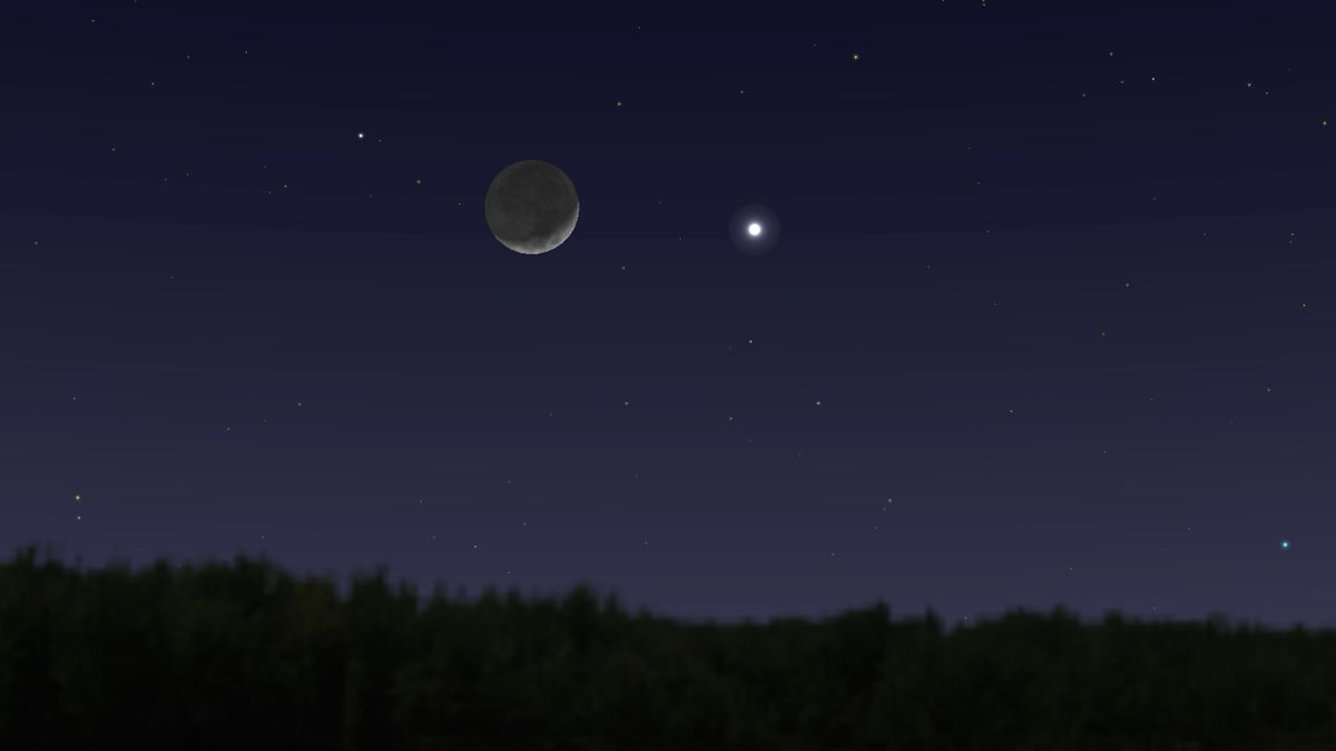How to see Venus shining with the moon tonight - Space.com