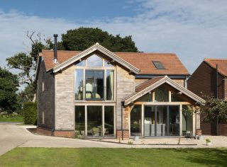 a self build home built by first time homeowners